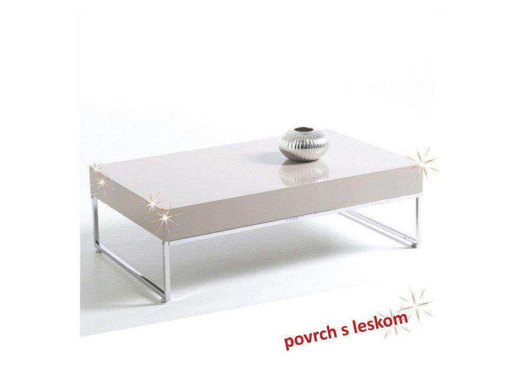 Konferenčný stôl LOTTI biely lesk