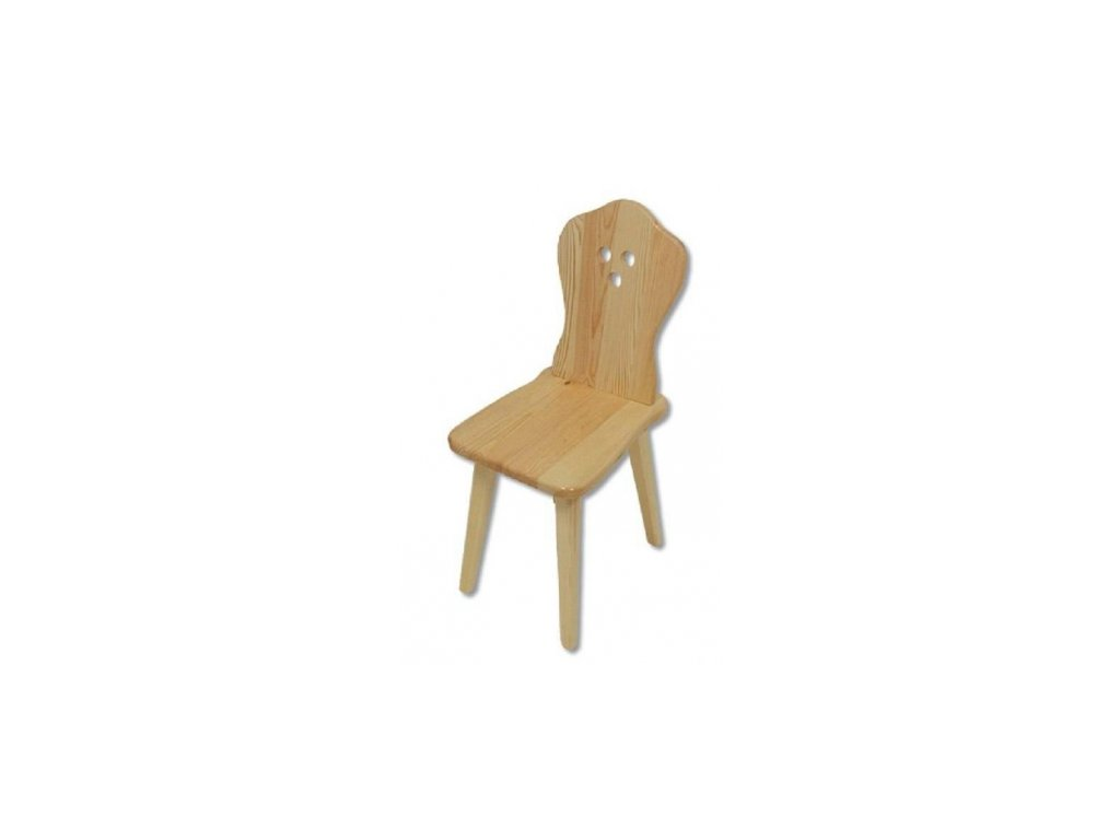 Drevená jedálenská stolička BM110 borovica masív