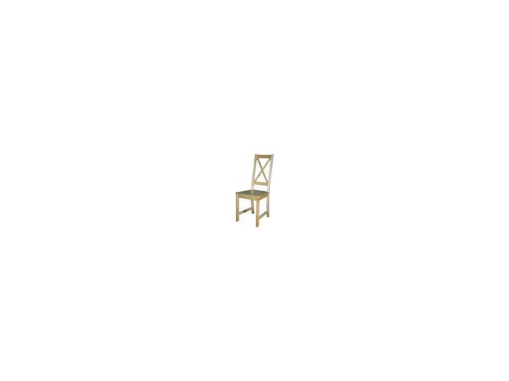 Drevená jedálenská stolička BM112 borovica masív