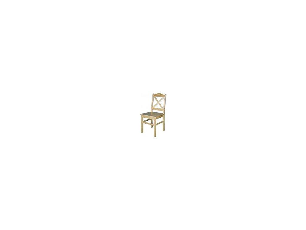Drevená jedálenská stolička BM113 borovica masív