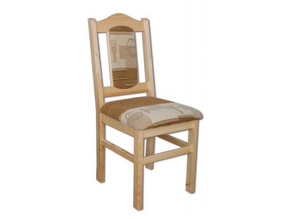 Drevená jedálenská stolička BM102 s výplňou borovica masív