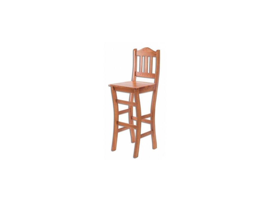 Drevená barová stolička BM111 borovica masív
