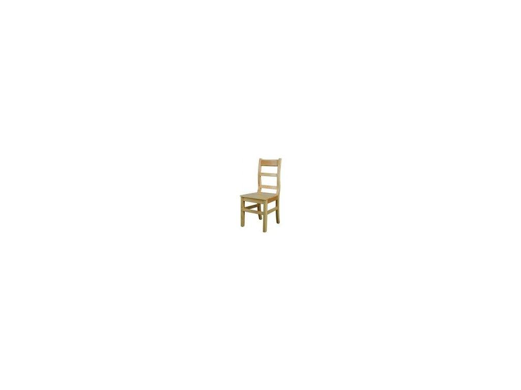 Drevená jedálenská stolička BM114 borovica masív