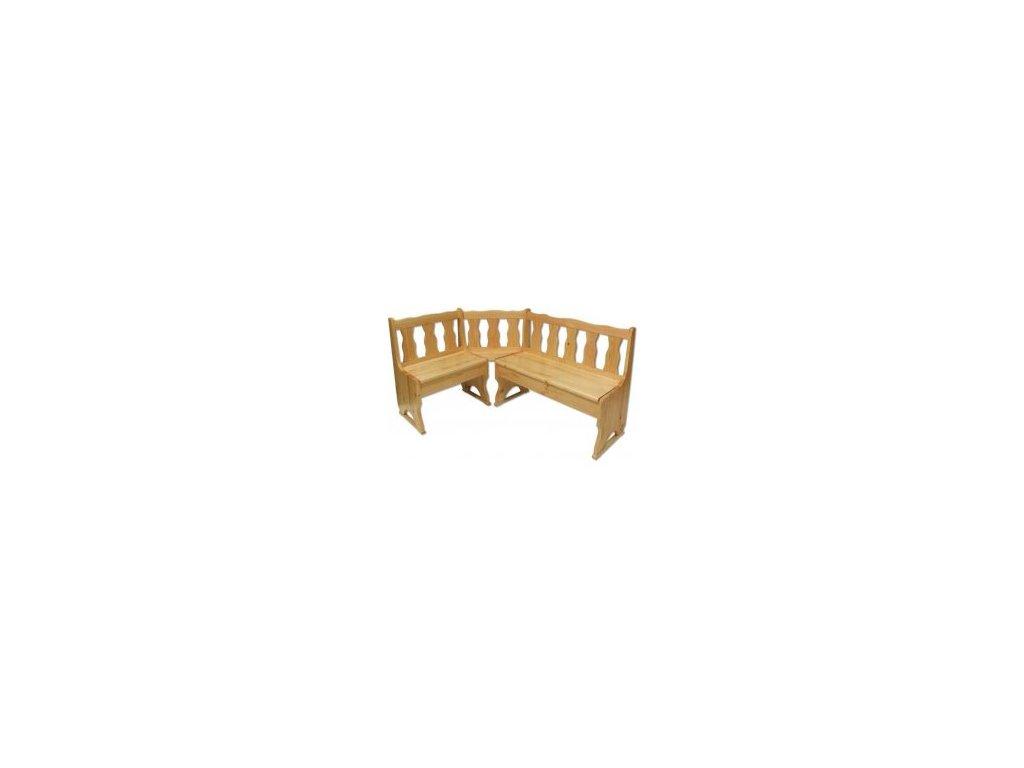Drevená rohová rohové lavice BM101 borovica masív