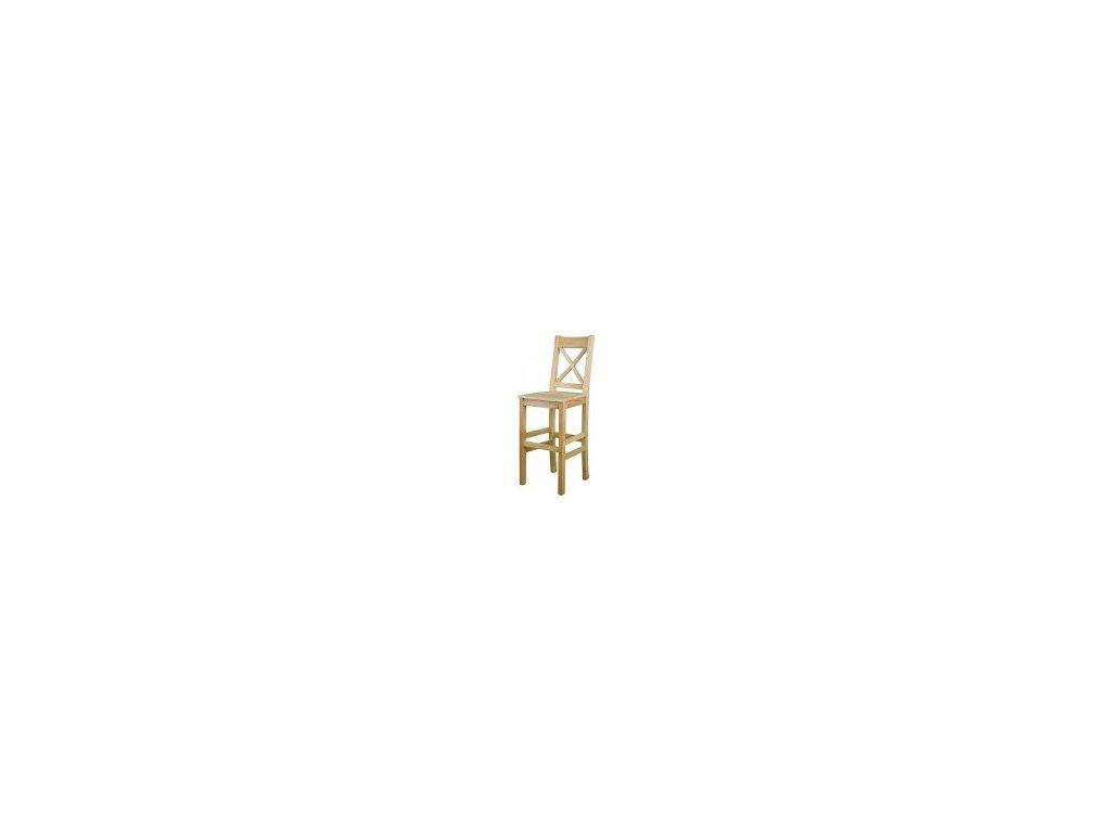Drevená jedálenská stolička BM117 borovica masív