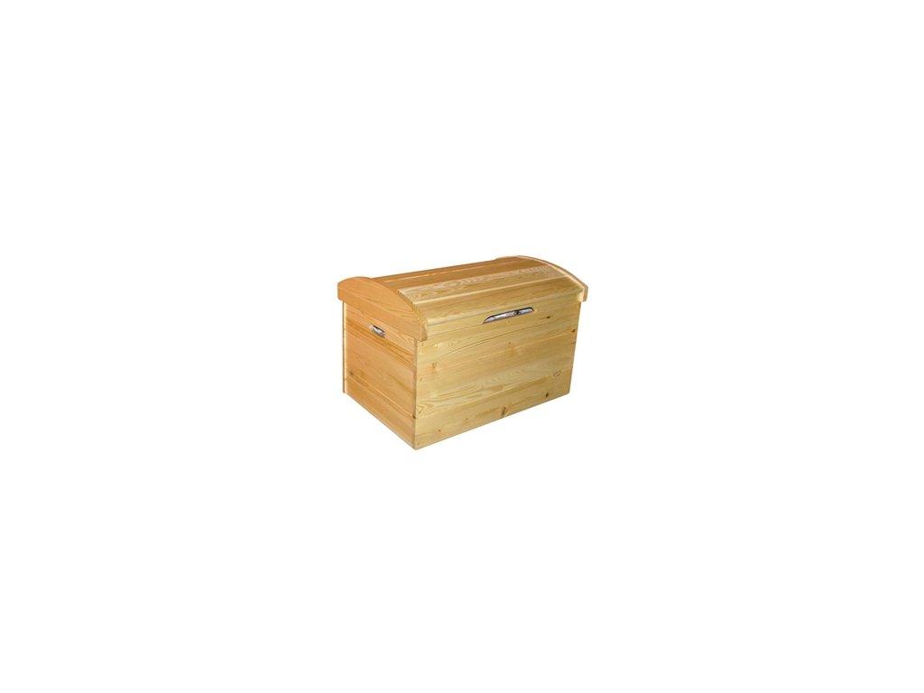 Drevená truhla 80x60x54 cm borovica masív