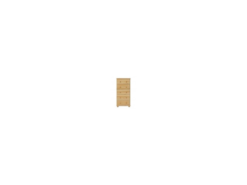 Drevená komoda 5 zásuviek KD 115 borovica masív