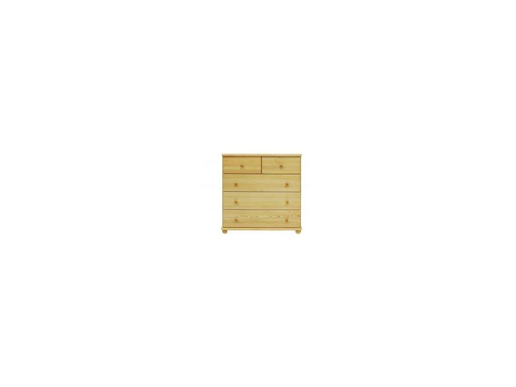 Masívna drevená komoda MC 3 + 1/2 borovica masív