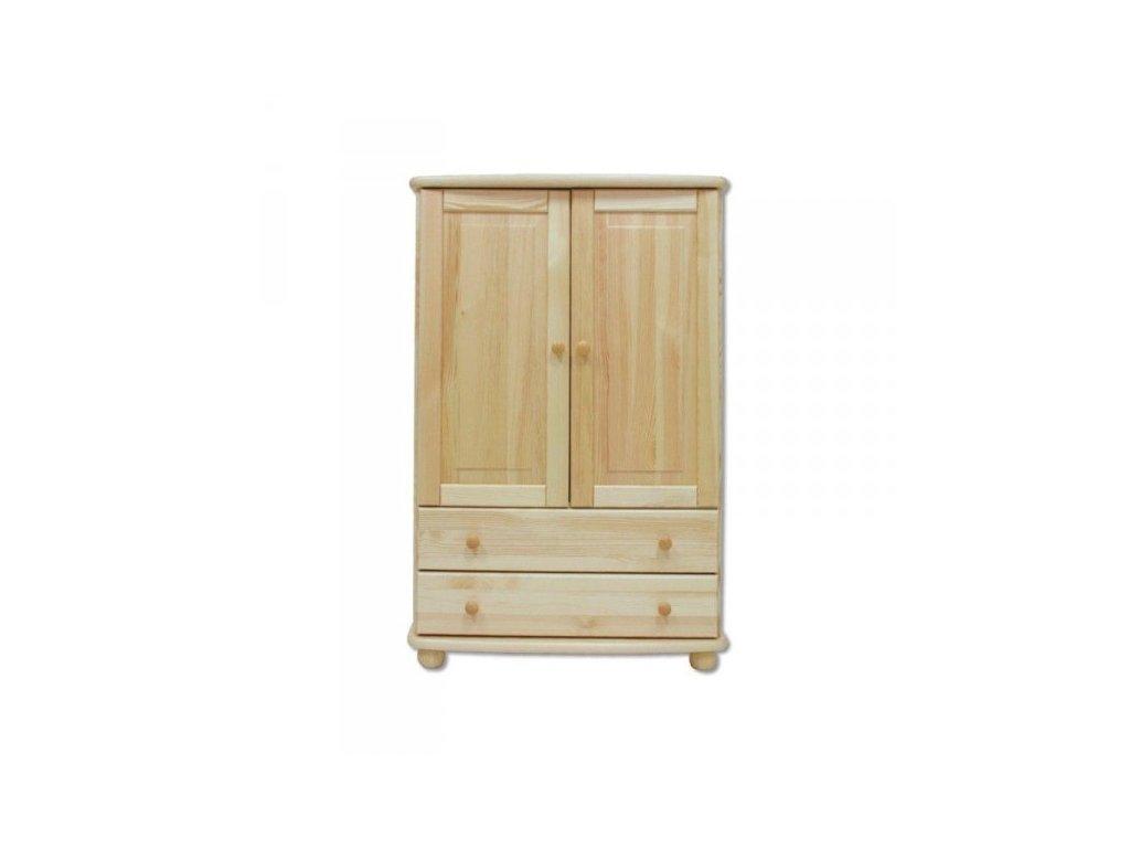Masívna drevená zásuvková komoda  KD155 masív výška 125 cm