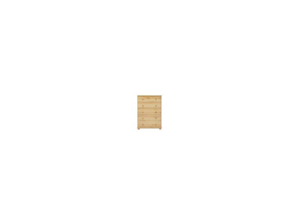 Zásuvková drevená komoda KD 114 borovica masív