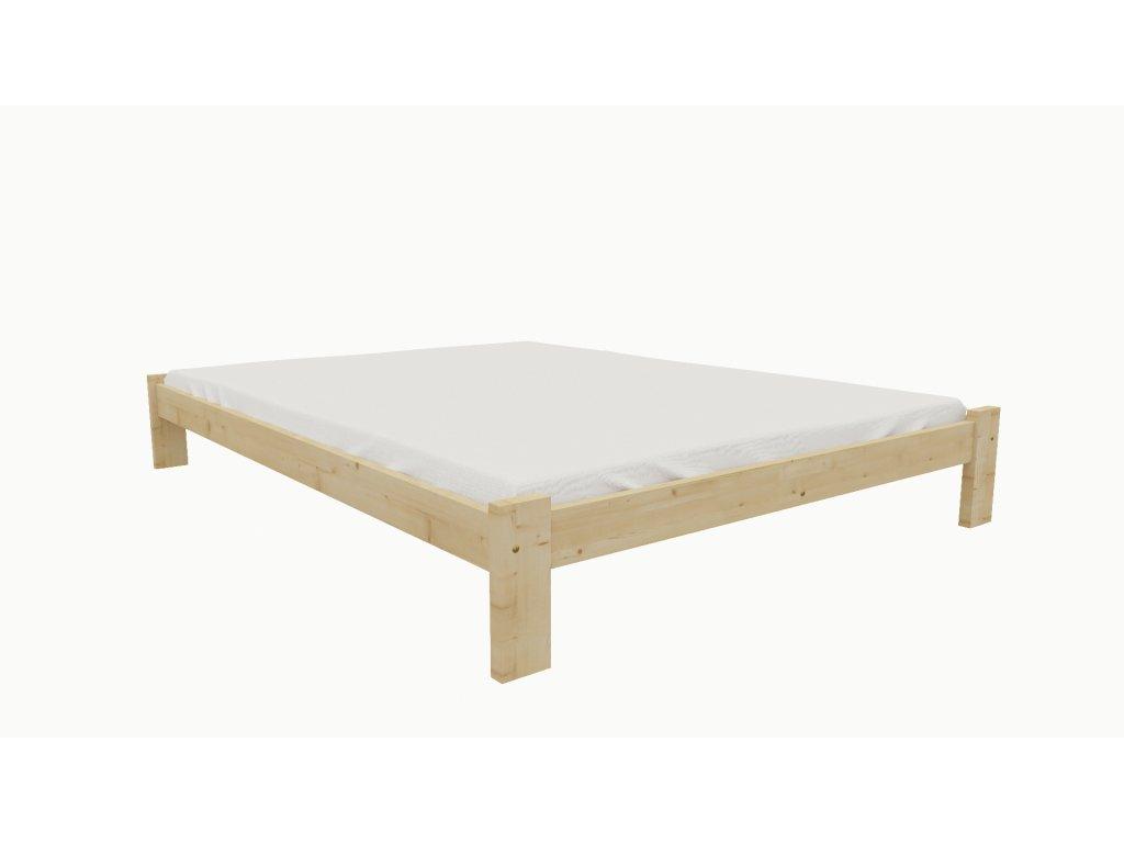 Drevená posteľ KV011 90x200 borovica masív lakovaná