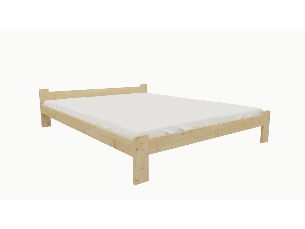 Drevená posteľ KV004 90x200 borovica masív lakovaná