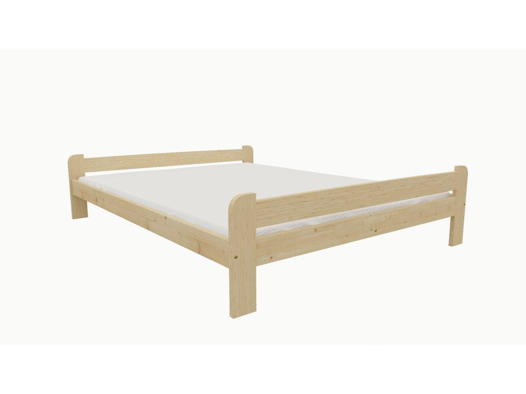 Drevená posteľ KV001 90x200 borovica masív lakovaná
