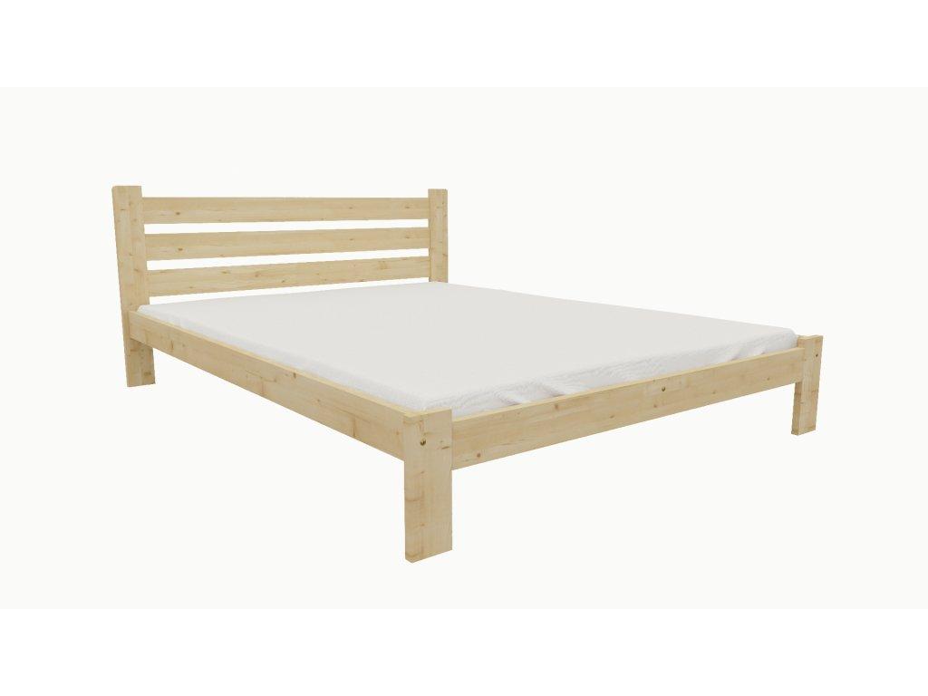Drevená posteľ KV005 90x200 borovica masív lakovaná