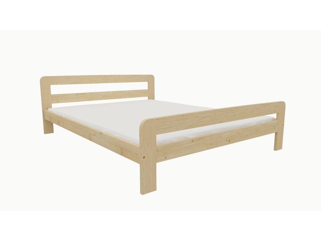 Drevená posteľ KV009 90x200 borovica masív lakovaná