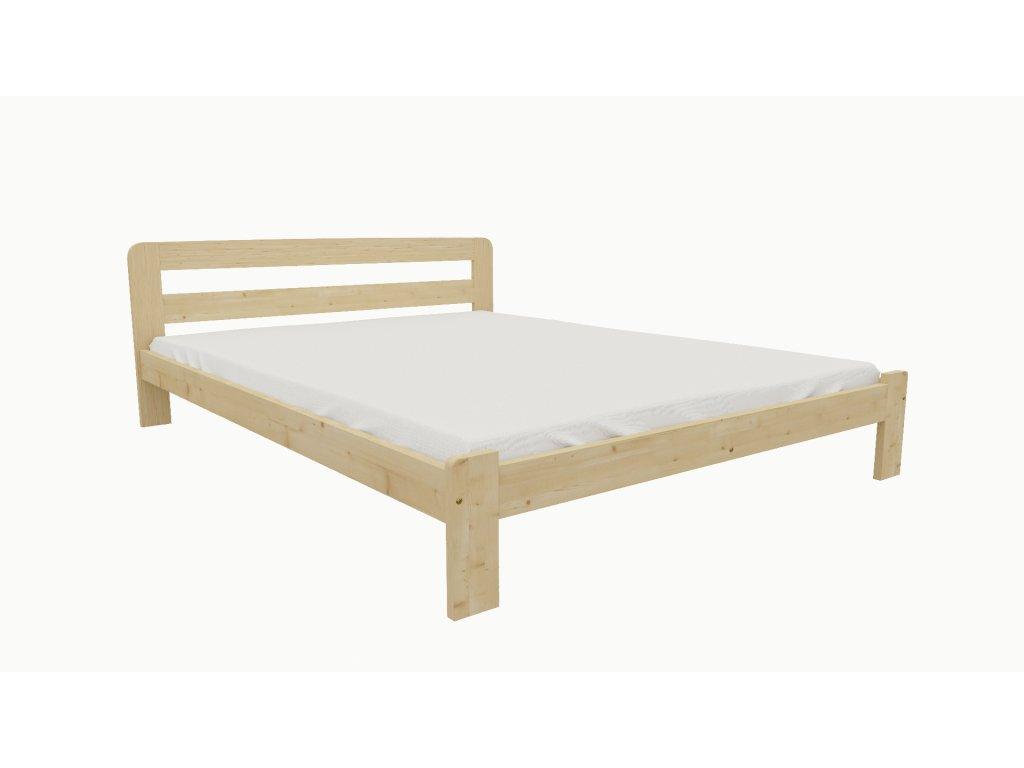 Drevená posteľ KV015 90x200 borovica masív lakovaná