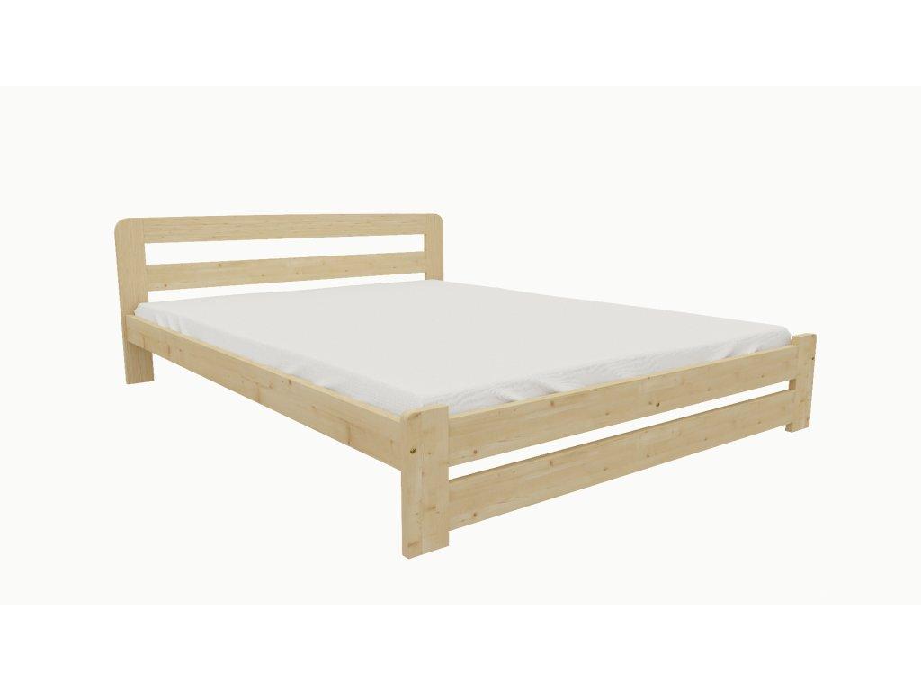 Drevená posteľ KV010 90x200 borovica masív lakovaná
