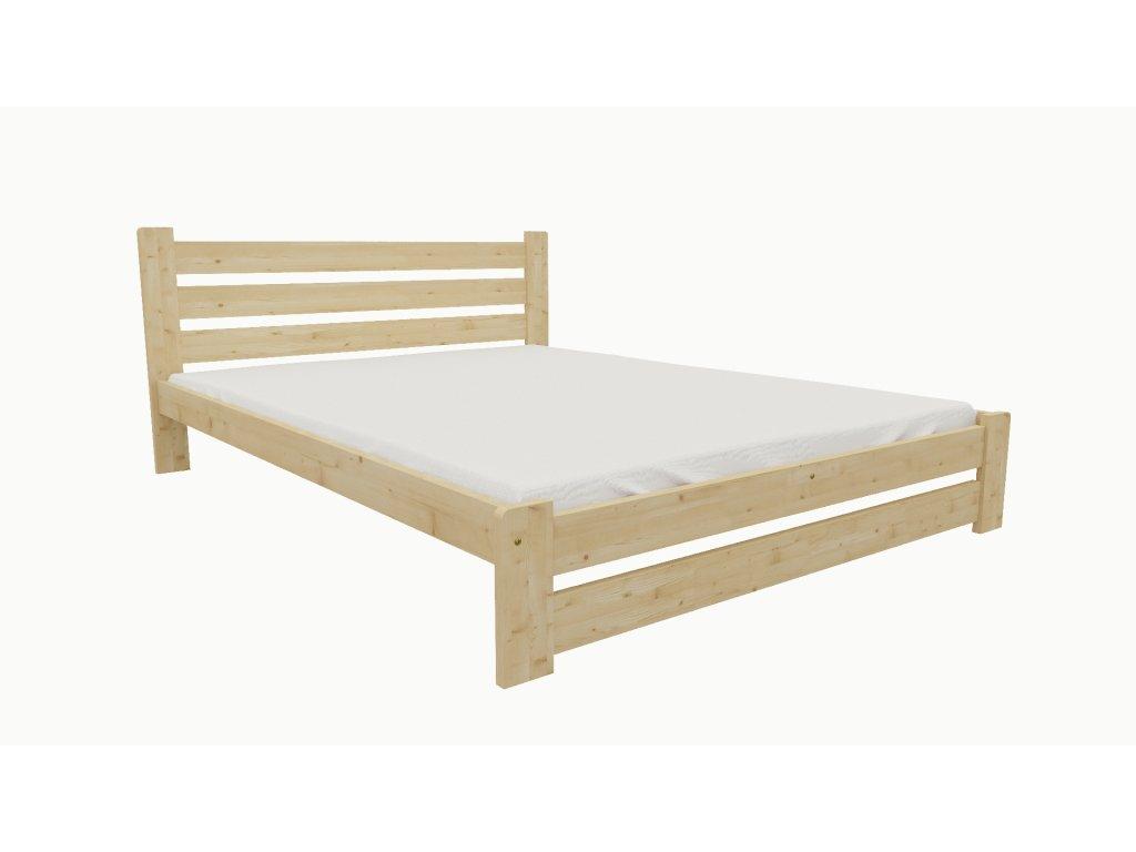 Drevená posteľ KV008 90x200 borovica masív lakovaná
