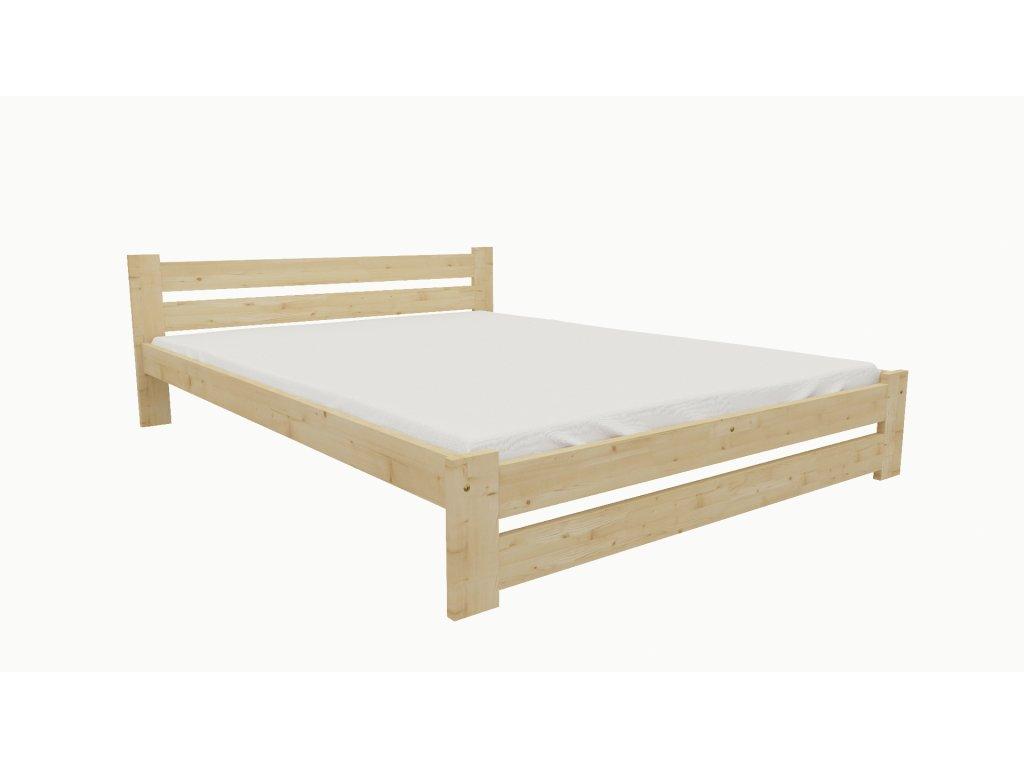 Drevená posteľ KV007 90x200 borovica masív lakovaná