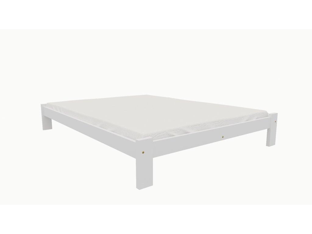 Drevená posteľ KV011 90x200 borovica masív BIELA