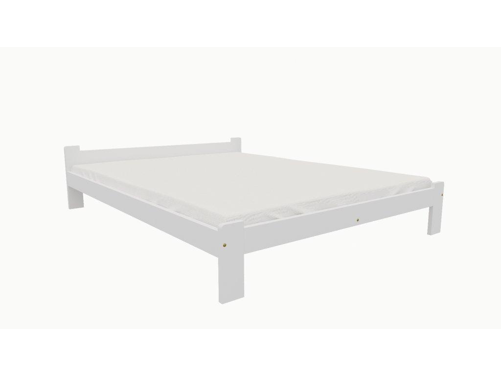 Drevená posteľ KV004 90x200 borovica masív BIELA