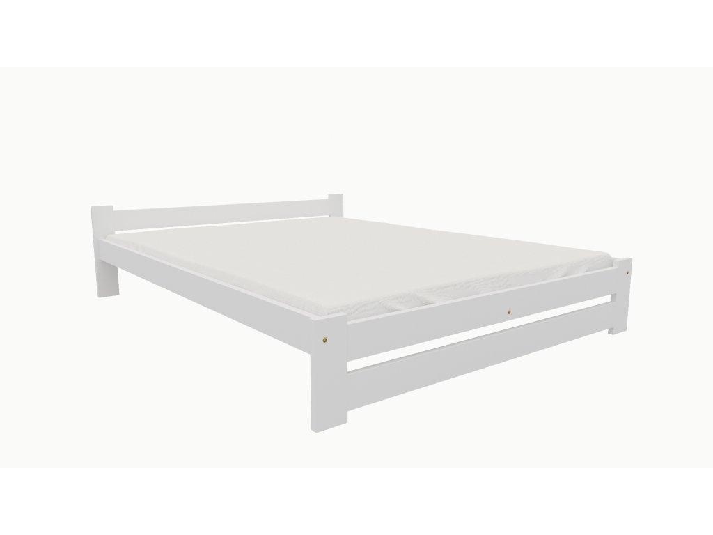 Drevená posteľ KV006 90x200 borovica masív BIELA