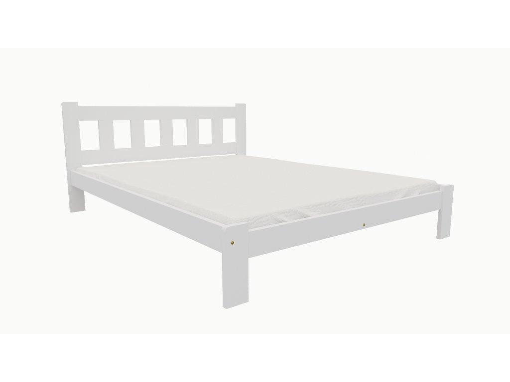 Drevená posteľ KV003 90x200 borovica masív BIELA