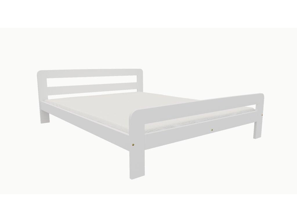 Drevená posteľ KV009 90x200 borovica masív BIELA