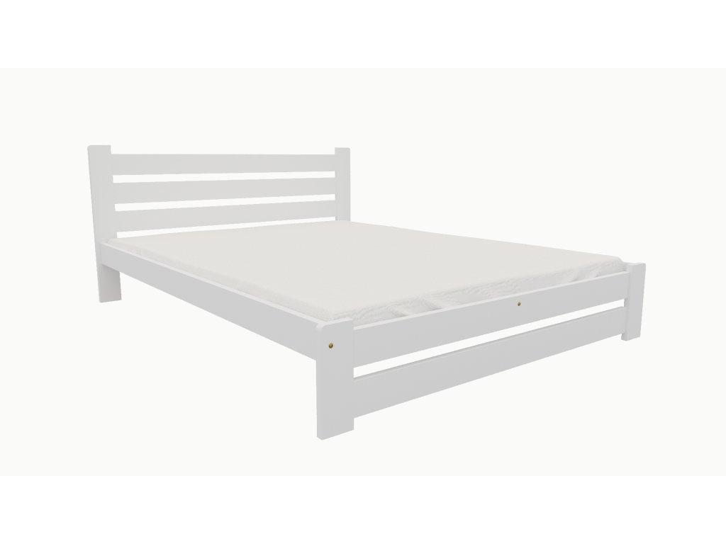 Drevená posteľ KV008 90x200 borovica masív BIELA