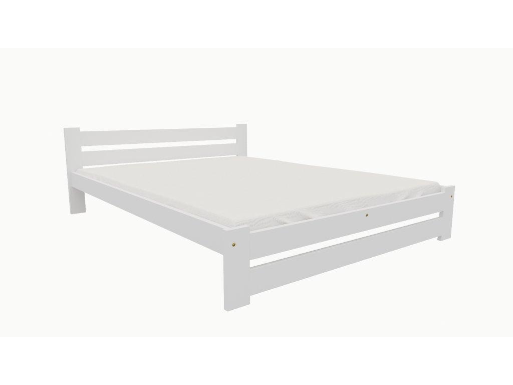 Drevená posteľ KV007 90x200 borovica masív BIELA