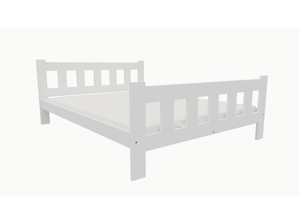 Drevená posteľ KV014 90x200 borovica masív BIELA