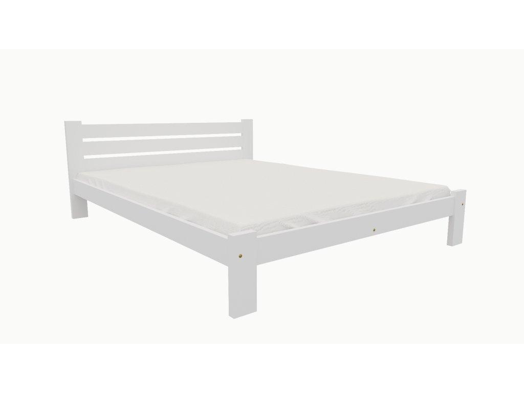 Drevená posteľ KV002 90x200 borovica masív BIELA