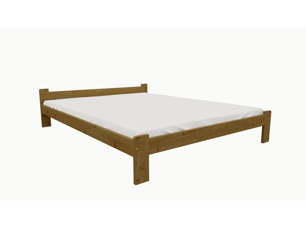 Drevená posteľ KV004 90x200 borovica masív - DUB