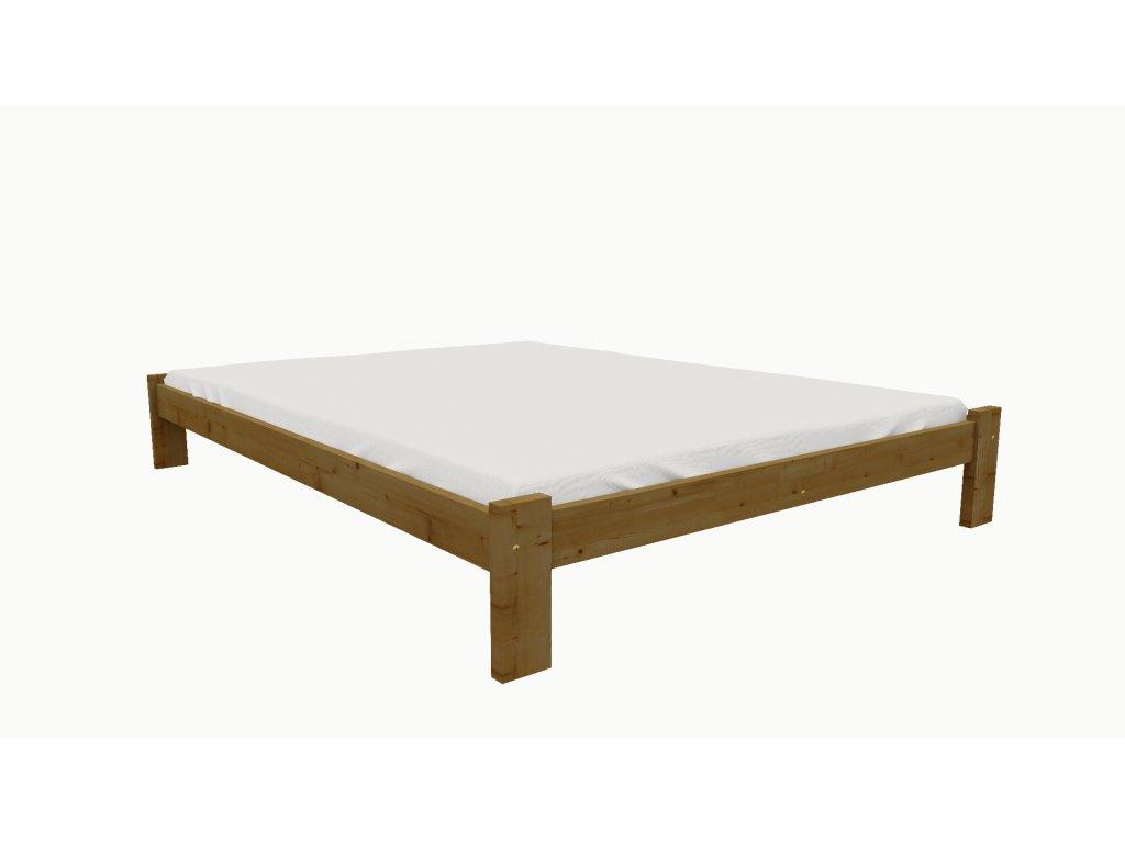 Drevená posteľ KV011 90x200 borovica masív - DUB