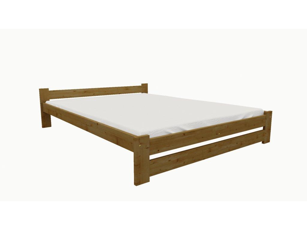 Drevená posteľ KV006 90x200 borovica masív - DUB