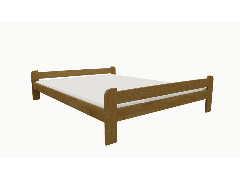 Drevená posteľ KV001 90x200 borovica masív - DUB