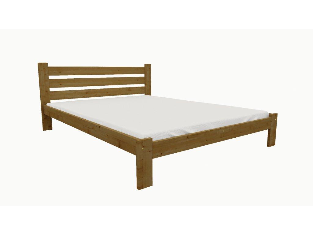 Drevená posteľ KV005 90x200 borovica masív - DUB