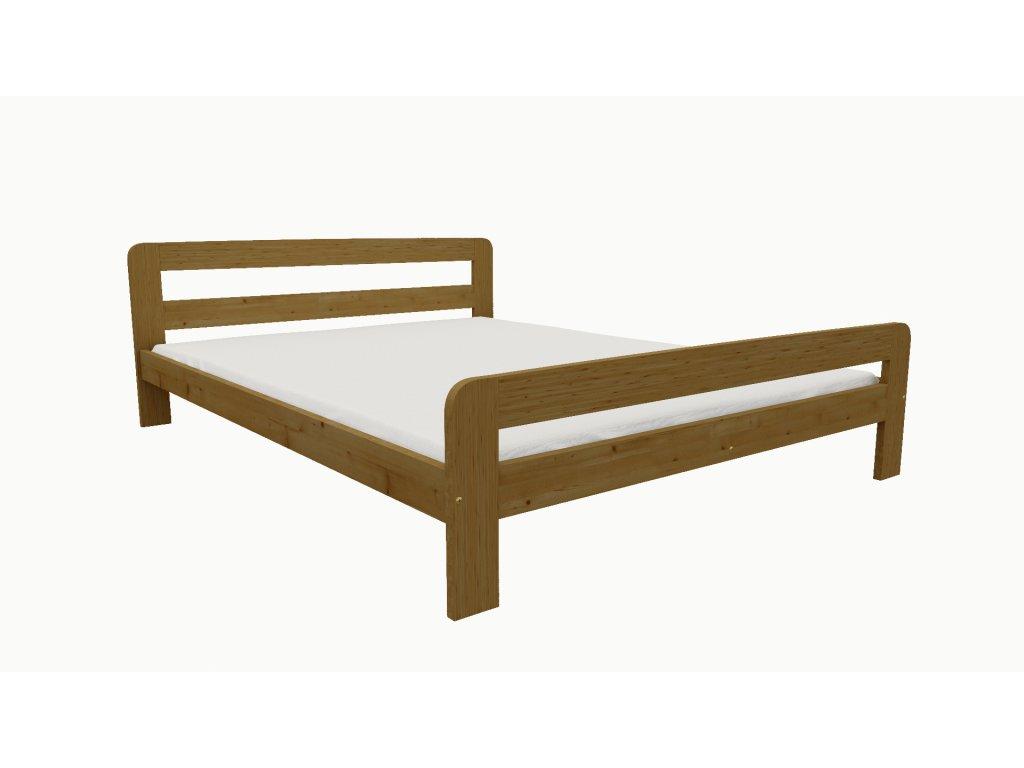 Drevená posteľ KV009 90x200 borovica masív - DUB
