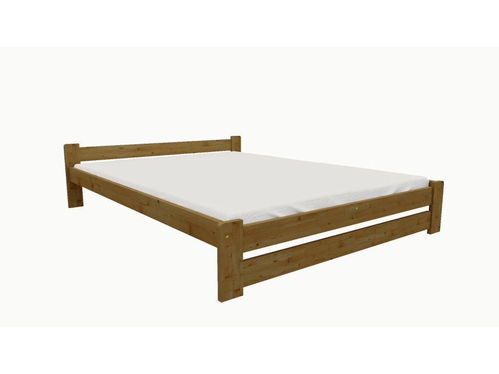 Drevená posteľ KV012 90x200 borovica masív - DUB