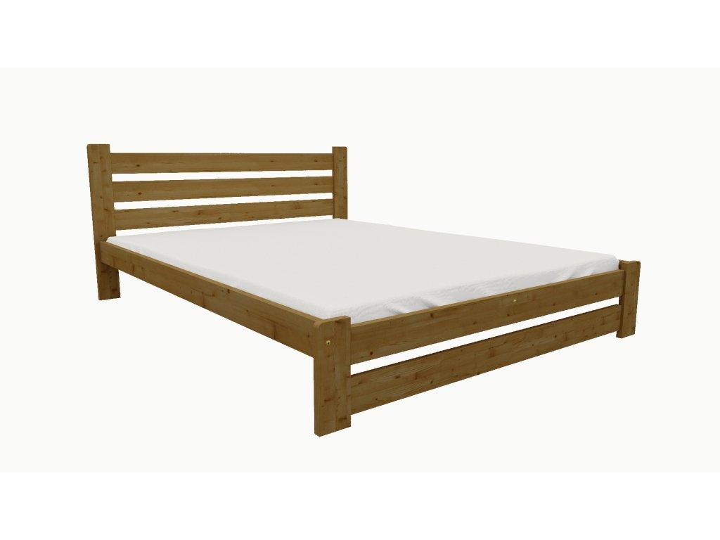 Drevená posteľ KV008 90x200 borovica masív - DUB