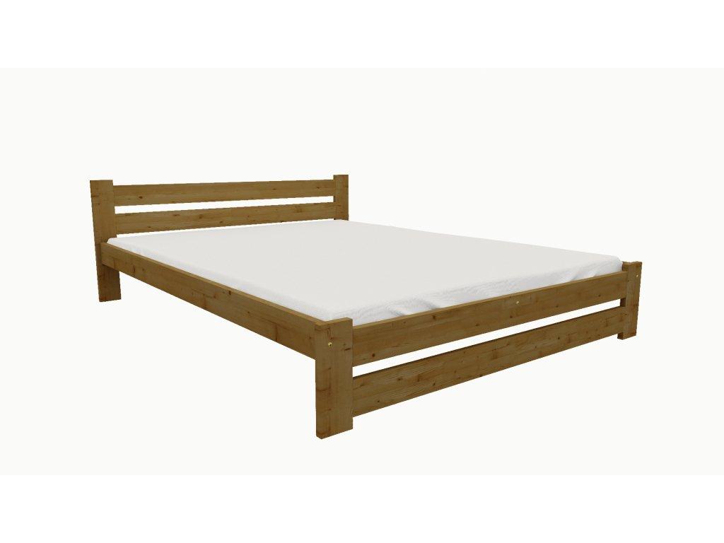 Drevená posteľ KV007 90x200 borovica masív - DUB