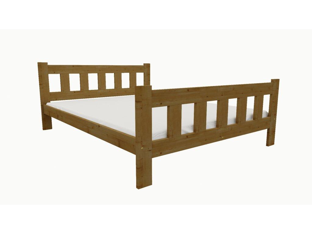 Drevená posteľ KV014 90x200 borovica masív - DUB