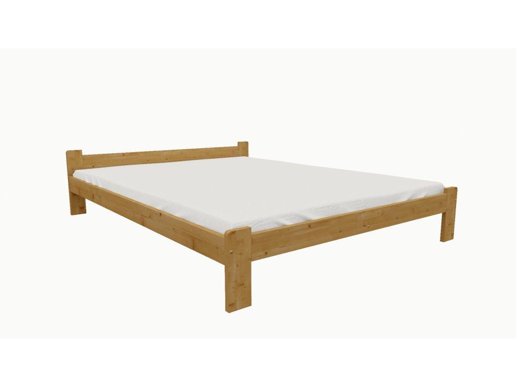 Drevená posteľ KV004 90x200 borovica masív - JELŠA