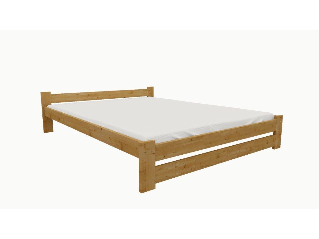 Drevená posteľ KV006 90x200 borovica masív - JELŠA