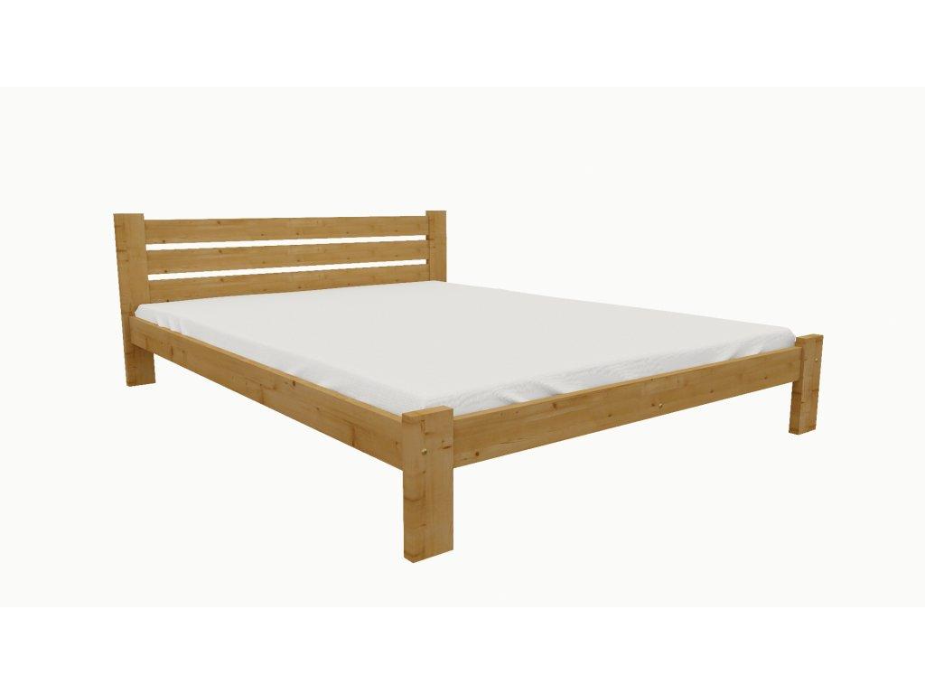 Drevená posteľ KV002 90x200 borovica masív - JELŠA