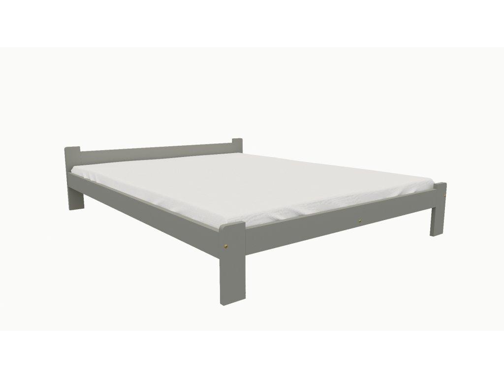 Drevená posteľ KV004 90x200 borovica masív - SIVÁ