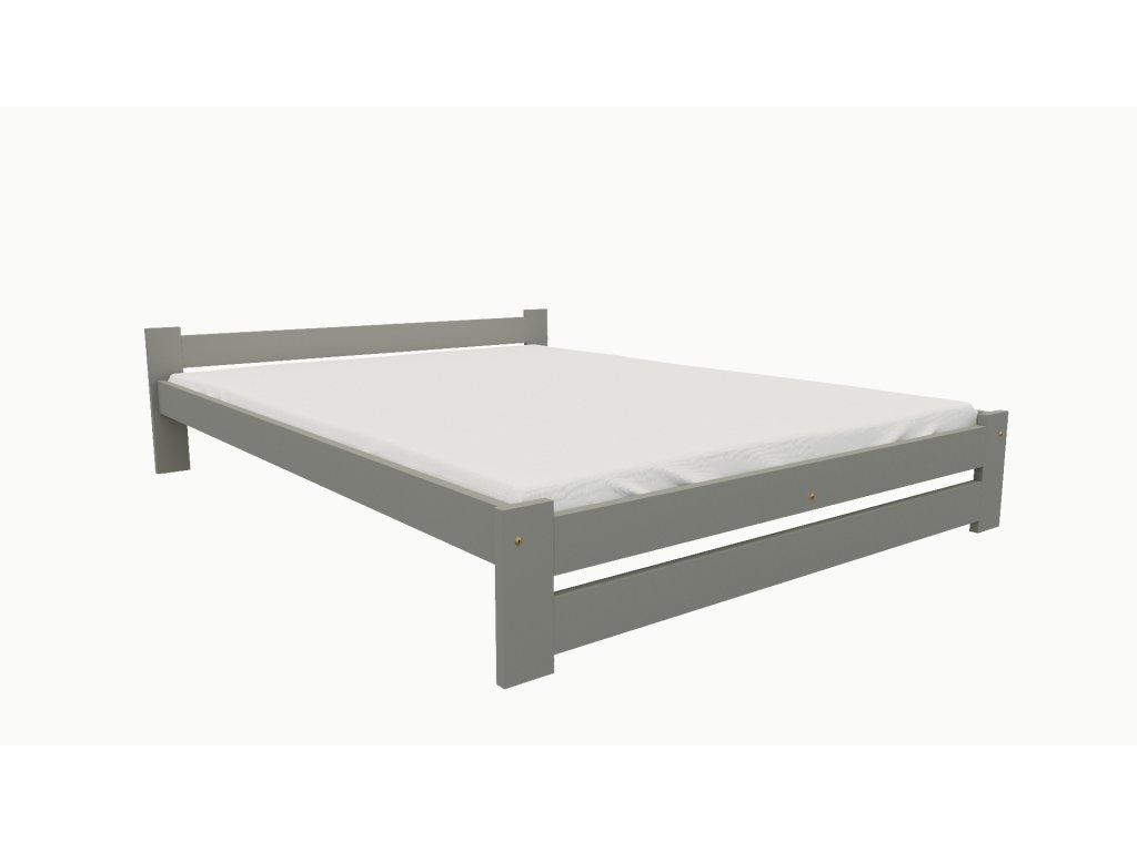 Drevená posteľ KV006 90x200 borovica masív - SIVÁ