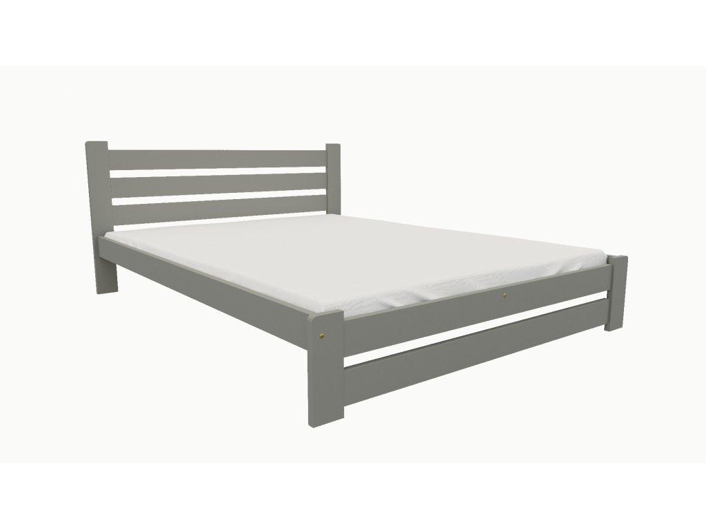 Drevená posteľ KV008 90x200 borovica masív - SIVÁ