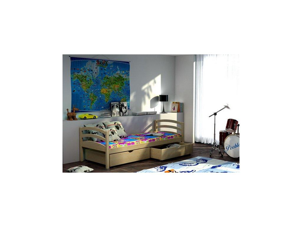 Posteľ ELIZABET 006 borovica masív 90x190 cm