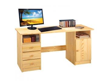Písací stôl I7488 borovica masív lakovaný